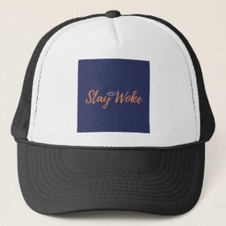 woke 4 trucker hat