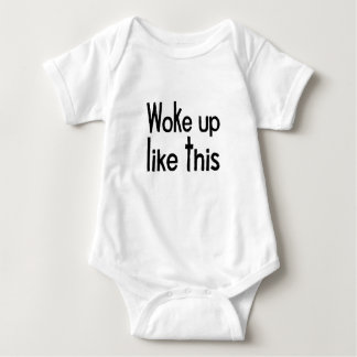 woke up baby bodysuit