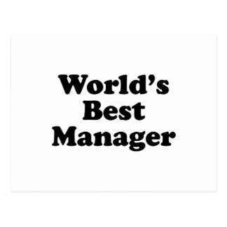Wold's Best Manager Postcard