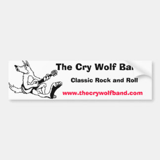 wolf11, The Cry Wolf Band, Classic Rock and Rol... Bumper Sticker