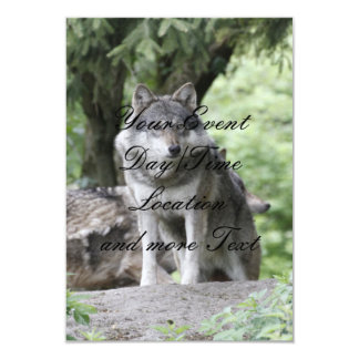Wolf 14AJ 9 Cm X 13 Cm Invitation Card