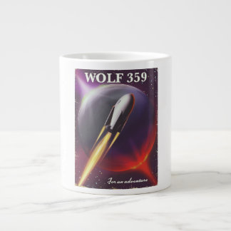 "Wolf 359 ""for an Adventure"" Space travel poster Large Coffee Mug"