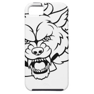 Wolf American Football Mascot Breaking Background Case For The iPhone 5