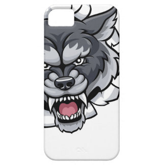 Wolf American Football Mascot Breaking Background iPhone 5 Covers
