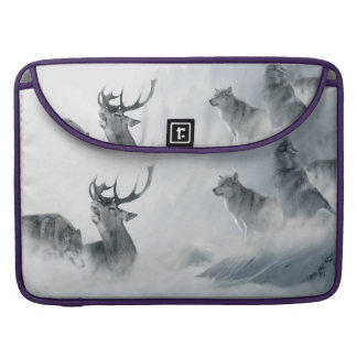 Wolf and Deer Sleeves For MacBook Pro