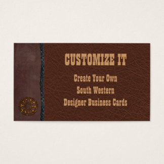 Wolf and Leather Western Business Cards