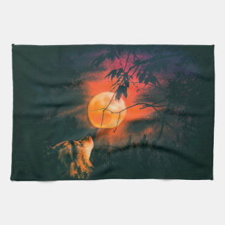 Wolf and Mead Moon Tea Towel