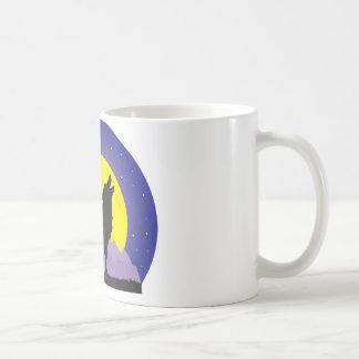 Wolf and Moon Coffee Mug