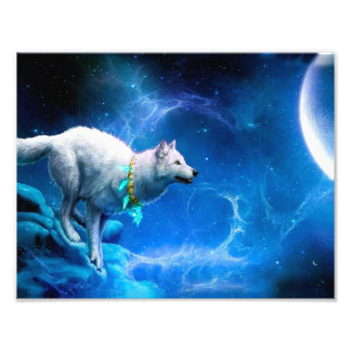Wolf and Moon Photo Art