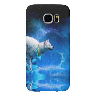Wolf and Moon Samsung Galaxy S6 Cases