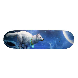 Wolf and Moon 21.6 Cm Skateboard Deck