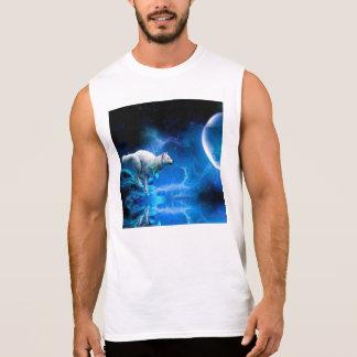 Wolf and Moon Sleeveless Shirt