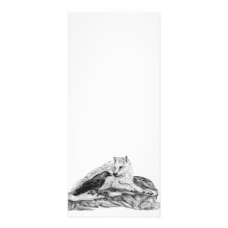 Wolf and Raven black and white design Custom Rack Cards