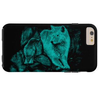 Wolf and Raven in the Night Tough iPhone 6 Plus Case