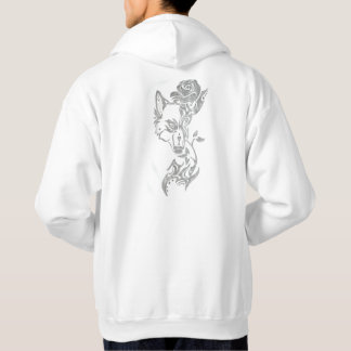 Wolf and rose hoodie
