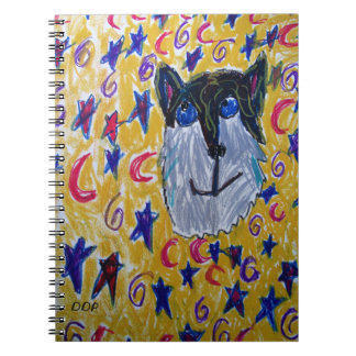 wolf and star and moon notebooks