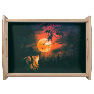 Wolf and The Mead Moon Serving Tray