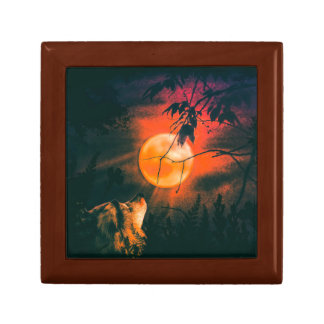 Wolf and The Mead Moon Small Square Gift Box