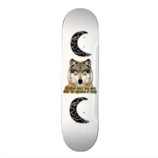 Wolf and Tribal Moon Skateboard
