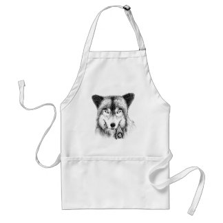 Wolf and Unlucky Little Guy Aprons