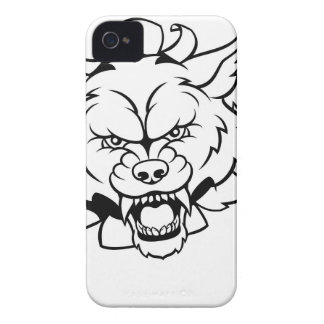 Wolf Animal Sports Mascot Breaking Background iPhone 4 Cover