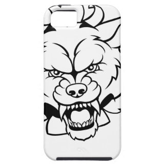 Wolf Animal Sports Mascot Breaking Background iPhone 5 Case