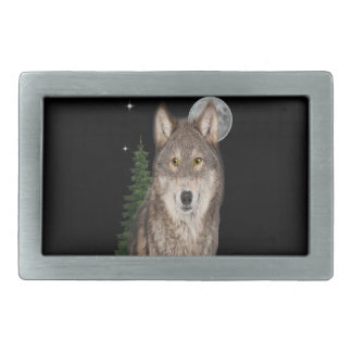 wolf art belt buckle