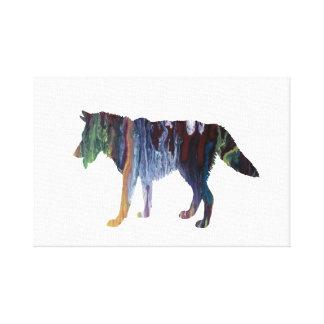 Wolf art canvas print