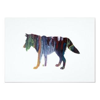 Wolf art card