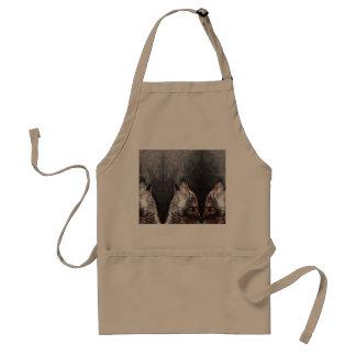 Wolf art - howling wolf - wolf painting standard apron