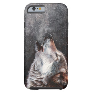 Wolf art - howling wolf - wolf painting tough iPhone 6 case