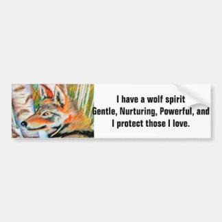 Wolf Art Illustration Car Bumper Sticker