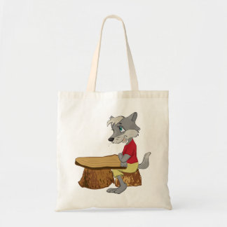 Wolf At A Table Tote Bag