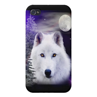 wolf at night iPhone 4/4S case