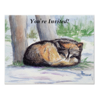 Wolf At Rest Card