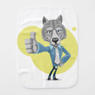 wolf baby burp cloths