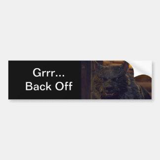 "Wolf  - ""Back Off"" Bumper Sticker"