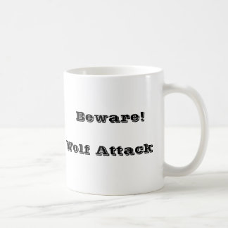 Wolf bites coffee mug