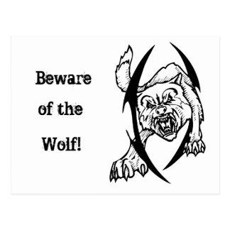 Wolf bites post cards