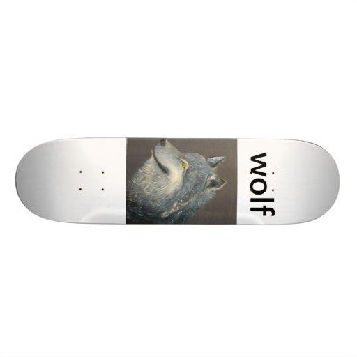 Wolf board. skateboard decks