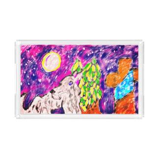 Wolf by cross acrylic tray