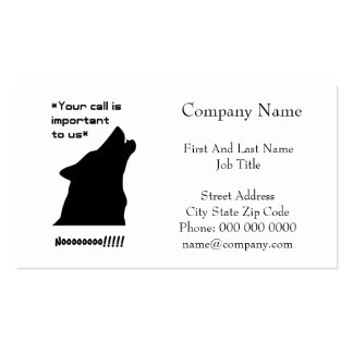 Wolf Call Silhouette Business Card Template