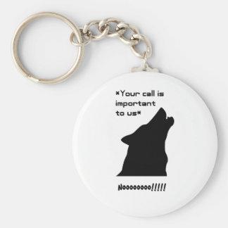 Wolf Call Silhouette Key Chain