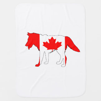 Wolf Canada Baby Blanket