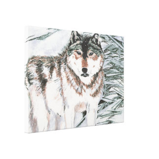 Wolf Gallery Wrap Canvas