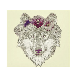 Wolf Stretched Canvas Prints