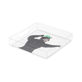 WOLF CAPE ACRYLIC PUNT/PLATE WOLF CAP ACRYLIC TRAY