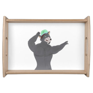 WOLF CAPE TRAY/WOLF CAP PLATE SERVING TRAY