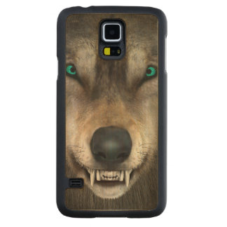 Wolf Carved Maple Galaxy S5 Case