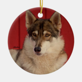 Wolf Ceramic Tree Ornament